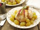 Junges Hühnchen mit Weintrauben Rezept