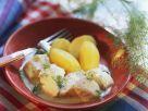 Kabeljau in Weinsauce mit Kartoffeln Rezept