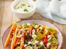 Käse mit gegrilltem Gemüse Rezept