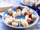 Käse-Weintrauben-Häppchen Rezept