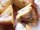 Käsekuchen ohne Boden mit Rosinen Rezept