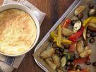 Käsesoufflé mit buntem Gemüse Rezept