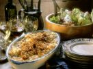 Käsespätzle mit Röstzwiebeln und Salat Rezept