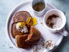 Kakao-Bananen-Pancakes mit Schoko-Joghurt Rezept