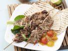 Kalbfleischspieße mit Melonen-Chutney Rezept
