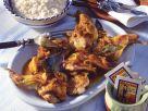 Kaninchen mit Safran und Rosinen Rezept