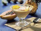 Karamellcreme mit exotischen Früchten Rezept