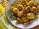 Karamellisierte Kartoffeln mit Gemüse Rezept