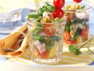 Kartoffel-Bohnen-Salat im Glas mit Brunnenkresse und Kasseler Rezept