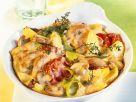Kartoffel-Gemüsegratin mit Bratenfleisch Rezept