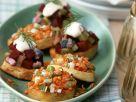 Kartoffel-Häppchen mit Linsen und Heringssalat Rezept