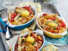 Kartoffel-Paprikagemüse mit Ei überbacken Rezept