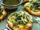 Kartoffel-Pizzetten mit grünem Spargel Rezept