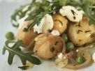 Kartoffel-Rucolasalat mit Erbsen Rezept