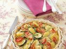 Kartoffel-Zucchini-Kuchen mit Tomaten Rezept