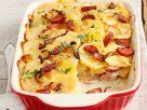 Kartoffelauflauf mit Cabanossi und Zwiebeln Rezept