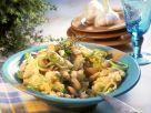 Kartoffelbrei mit Bohnen-Lauchgemüse Rezept