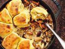 Kartoffelbuchteln auf Pilzragout Rezept