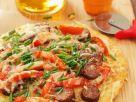 Kartoffelfladen mit Paprika und Wurst Rezept