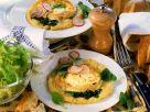 Kartoffelkuchen mit Spinat und Käse Rezept