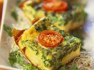 Kartoffelkuchen mit Spinat und Tomaten Rezept