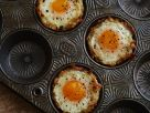 Kartoffelküchlein mit Käse und Ei Rezept