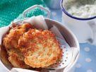 Kartoffelpuffer mit Quark und Apfelmus Rezept