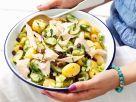 Kartoffelsalat mit Forelle und Rosinen Rezept