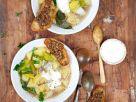 Kartoffelsuppe mit Lauch und Röstbrot Rezept