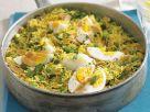 Kedgeree mit Gemüse und hartem Ei Rezept