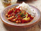 Kichererbsen mit luftgetrocknetem Fleisch (Pastirma) Rezept