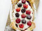 Kirschkuchen mit Mascarpone und Marmelade Rezept