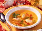 Klare Hühnerbrühe mit Ricotta-Klößchen Rezept