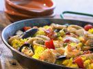 Klassische Meeresfrüchte-Paella Rezept