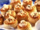 Kleine Pasteten mit Krebsfüllung Rezept