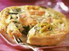 Kleine Quiche mit Poree und Lachs Rezept