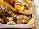 Knoblauchhähnchen aus dem Ofen Rezept