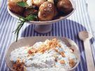 Knoblauchkartoffeln mit Zwiebelquark Rezept