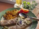 Knöcherlsülze mit gebratenen Kartoffeln Rezept