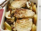 Kotelett mit Apfel und Sultaninen Rezept