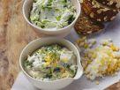 Kresse-Eier-Quark und Bärlauch-Ziegenfrischkäse Rezept