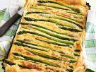 Kuchen mit grünem Spargel Rezept