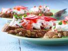 Kürbisbrot mit Gemüsequark Rezept