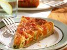 Kürbisquiche mit Schinken, Lauchzwiebeln und Käse Rezept