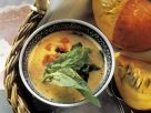 Kürbissuppe mit Sauerampfer und Spinat Rezept