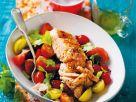 Lachs aus dem Ofen auf Tomatensalat Rezept