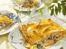 Lachs mit Spinat und Ricotta in Blätterteighülle Rezept