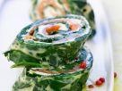 Lachs-Spinat-Röllchen Rezept
