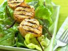 Lachsfilet vom Grill mit Salat Rezept