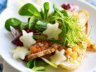 Lachsforelle mit Salat und Birne Rezept